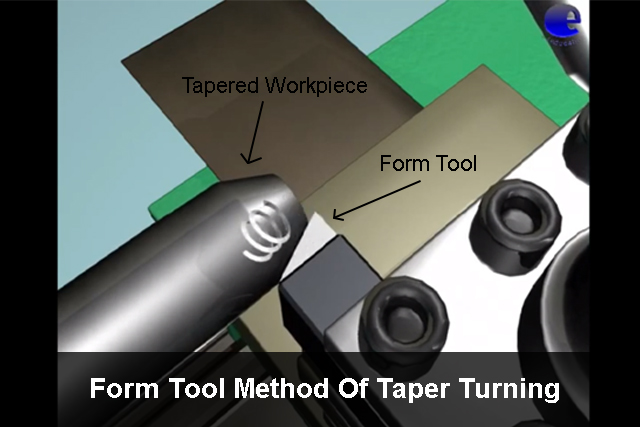 Form Tool Method Of Taper Turning